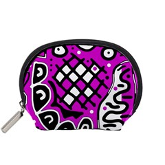 Magenta high art abstraction Accessory Pouches (Small)
