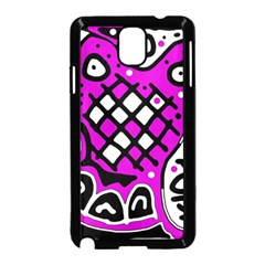Magenta high art abstraction Samsung Galaxy Note 3 Neo Hardshell Case (Black)