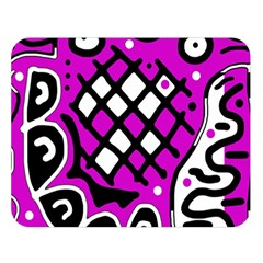 Magenta high art abstraction Double Sided Flano Blanket (Large)