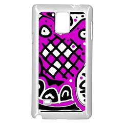 Magenta high art abstraction Samsung Galaxy Note 4 Case (White)