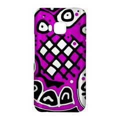 Magenta high art abstraction HTC One M9 Hardshell Case
