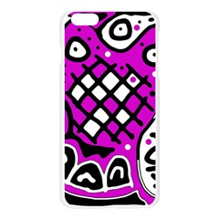 Magenta high art abstraction Apple Seamless iPhone 6 Plus/6S Plus Case (Transparent)
