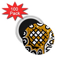 Yellow high art abstraction 1.75  Magnets (100 pack)