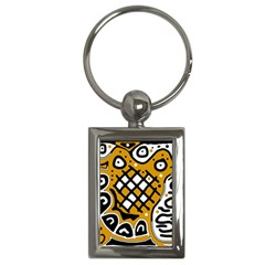Yellow high art abstraction Key Chains (Rectangle)
