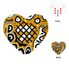 Yellow high art abstraction Playing Cards (Heart)
