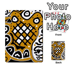 Yellow high art abstraction Playing Cards 54 Designs