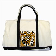Yellow high art abstraction Two Tone Tote Bag