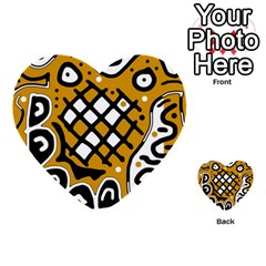 Yellow high art abstraction Multi-purpose Cards (Heart)