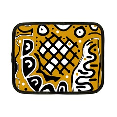 Yellow high art abstraction Netbook Case (Small)