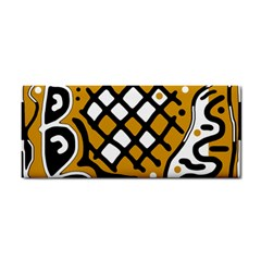 Yellow high art abstraction Hand Towel
