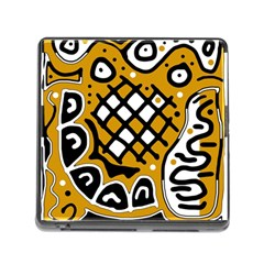 Yellow high art abstraction Memory Card Reader (Square)