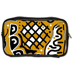 Yellow high art abstraction Toiletries Bags 2-Side