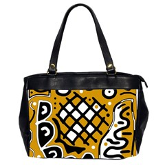 Yellow high art abstraction Office Handbags (2 Sides)