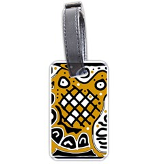 Yellow high art abstraction Luggage Tags (Two Sides)
