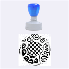 Yellow high art abstraction Rubber Round Stamps (Medium)