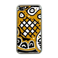 Yellow high art abstraction Apple iPhone 4 Case (Clear)