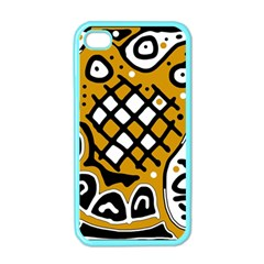 Yellow high art abstraction Apple iPhone 4 Case (Color)
