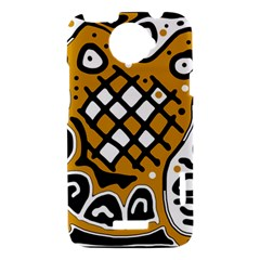 Yellow high art abstraction HTC One X Hardshell Case