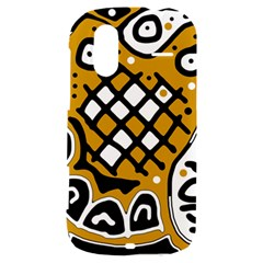 Yellow high art abstraction HTC Amaze 4G Hardshell Case