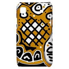 Yellow high art abstraction Samsung Galaxy S i9000 Hardshell Case