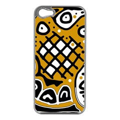 Yellow high art abstraction Apple iPhone 5 Case (Silver)