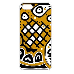 Yellow high art abstraction Apple iPhone 5 Seamless Case (White)