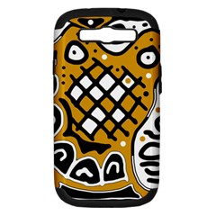Yellow high art abstraction Samsung Galaxy S III Hardshell Case (PC+Silicone)