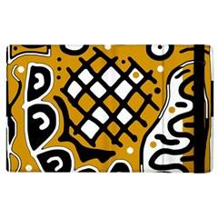 Yellow high art abstraction Apple iPad 2 Flip Case