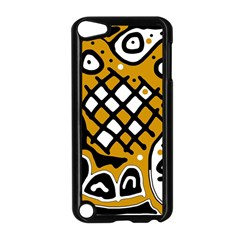 Yellow high art abstraction Apple iPod Touch 5 Case (Black)