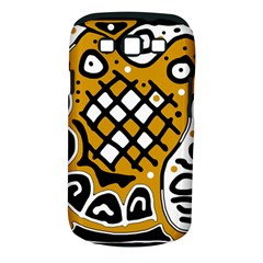 Yellow high art abstraction Samsung Galaxy S III Classic Hardshell Case (PC+Silicone)