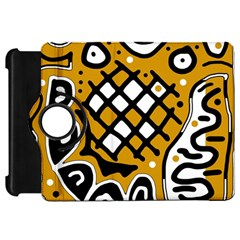 Yellow high art abstraction Kindle Fire HD Flip 360 Case