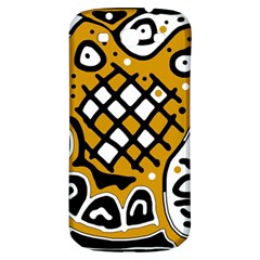 Yellow high art abstraction Samsung Galaxy S3 S III Classic Hardshell Back Case