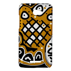 Yellow high art abstraction HTC Butterfly X920E Hardshell Case