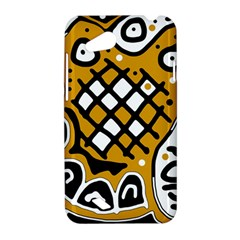 Yellow high art abstraction HTC Desire VC (T328D) Hardshell Case