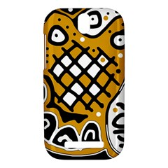 Yellow high art abstraction HTC One SV Hardshell Case