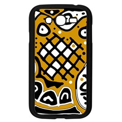 Yellow high art abstraction Samsung Galaxy Grand DUOS I9082 Case (Black)