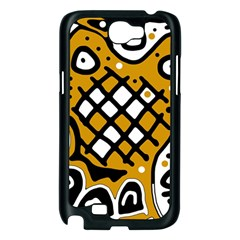 Yellow high art abstraction Samsung Galaxy Note 2 Case (Black)