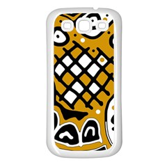 Yellow high art abstraction Samsung Galaxy S3 Back Case (White)