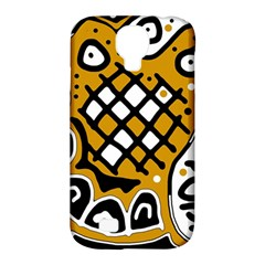 Yellow high art abstraction Samsung Galaxy S4 Classic Hardshell Case (PC+Silicone)