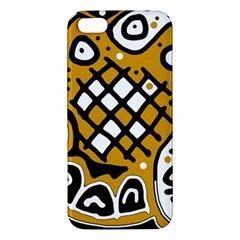 Yellow high art abstraction iPhone 5S/ SE Premium Hardshell Case