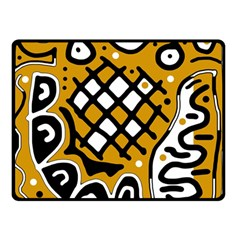 Yellow high art abstraction Double Sided Fleece Blanket (Small)