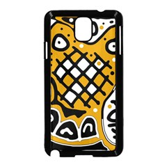 Yellow high art abstraction Samsung Galaxy Note 3 Neo Hardshell Case (Black)