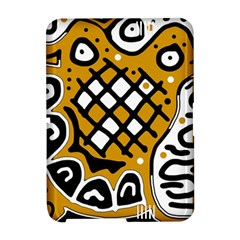 Yellow high art abstraction Amazon Kindle Fire (2012) Hardshell Case