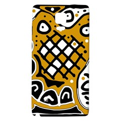 Yellow high art abstraction Galaxy Note 4 Back Case