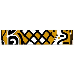 Yellow high art abstraction Flano Scarf (Small)