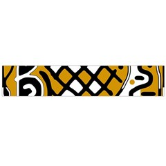 Yellow high art abstraction Flano Scarf (Large)
