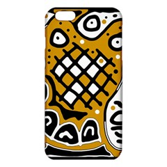Yellow high art abstraction iPhone 6 Plus/6S Plus TPU Case