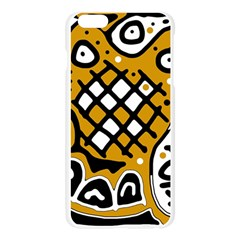 Yellow high art abstraction Apple Seamless iPhone 6 Plus/6S Plus Case (Transparent)