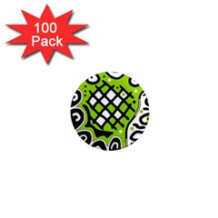 Green high art abstraction 1  Mini Magnets (100 pack)
