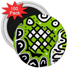 Green high art abstraction 3  Magnets (100 pack)